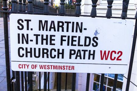 westminster city: St. Martin-In-The Fields Church Path in the City of Westminster. London. UK