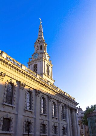 westminster city: The St. Martin-In-The Fields Church Path in the City of Westminster. London. UK