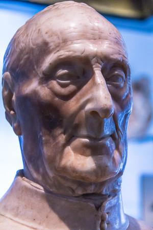 bust: Giovanni Chellini bust, 1456, by Antonio Rossellino. Victoria and Albert museum Editorial