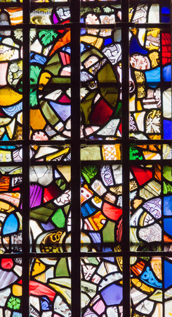 stained glass windows: Stained glass windows in St Johns Chapel, dating from 1080,  inside the White Tower of Tower of London was added around 1240