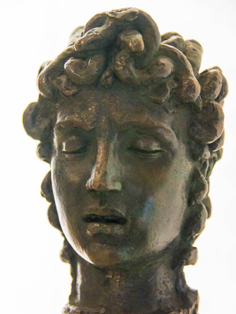 medusa: Head of Medusa Statuette by Benvenuto Cellini, about 1545-1556. Victoria and Albert Museum. London Editorial