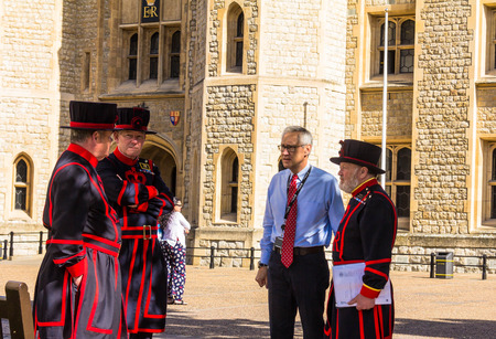 guardians: Yeomen Warders of Tower of London (Beefeaters). Beefeaters are ceremonial guardians of the Tower of London