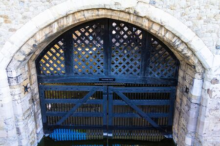 thomas stone: View of the Traitors Gate in the Tower of London