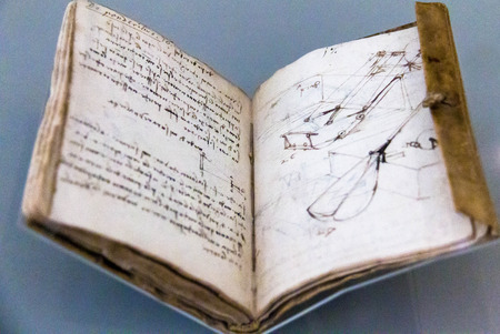 Notebook (Codex Forster I2), 1490-3, by Leonardo Da Vinci. Victoria and Albert museum. London
