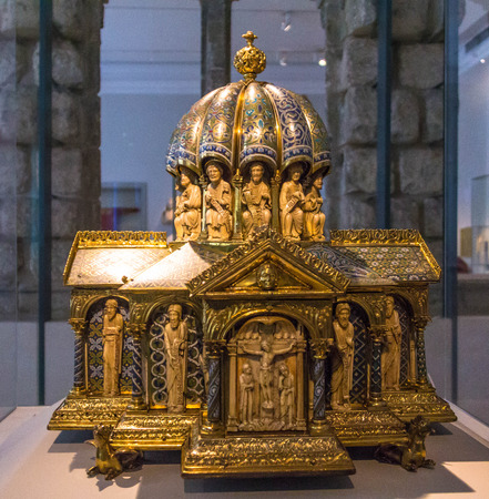 tabernacle: Tabernacle, unknown maker, about 1180. Old name - Eltenberg Reliquary.   Victoria and Albert museum. London Editorial