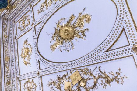 st jamess: Music Room ceiling from Norfolk House, St Jamess Square, London.  Victoria & Albert Museum, London Editorial