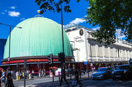 LONDON , UK - JUNE 7, 2015:   Madame Tussauds  museum in London. Madame Tussauds London is famous for recreating famous people and celebrities, in wax. It is located in the former London Planetarium. Editorial
