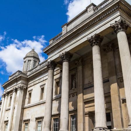 trafalgar: National gallery on Trafalgar Square. London,UK