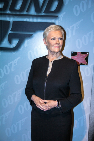 LONDON, UK - JUNE 7,2015:  Dame  Judi Dench in Madame Tussauds museum. Marie Tussaud was born as Marie Grosholtz in 1761 Editorial