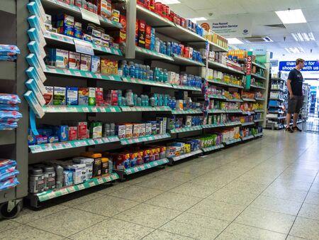 LONDON, UK - JUNE 7, 2015:  Interior of small store on Baker street.