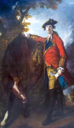 robert: LONDON, UK - JUNE 7, 2015: Captain Robert Orme (1756) by Sir Joshua Reynolds(1723-1792) at the National Gallery of London.  at the National Gallery of London.