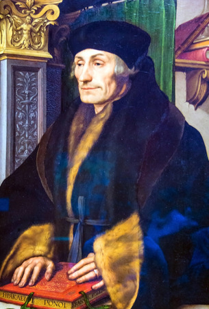 LONDON, UK - JUNE 7, 2015: Erasmus(1523) by Hans Holbein the Younger(1497-1543)  at the National Gallery of London.
