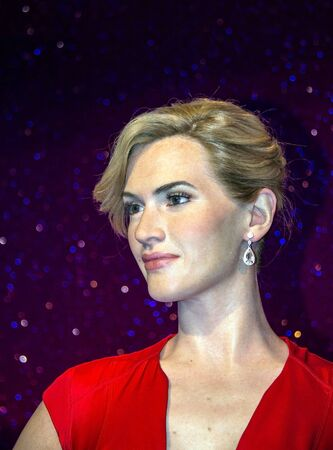 Kate Elizabeth Winslet (born 5 October 1975) ,English actress and singer, wax figure in Madame Tussaud museum. It is one of major tourist attraction. Editorial