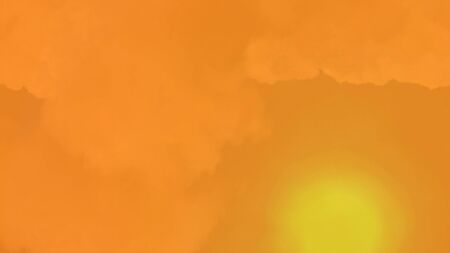 dazzling: Summer sunset background with a magnificent hot sun on cloudy sky and space for your design