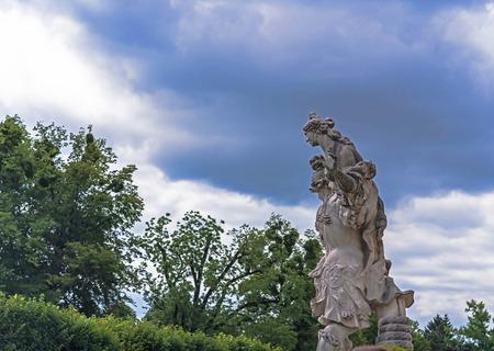 Sculpture Paris steals Elena in Mirabell garden. Sculptor Hans Wadburger, after 1700