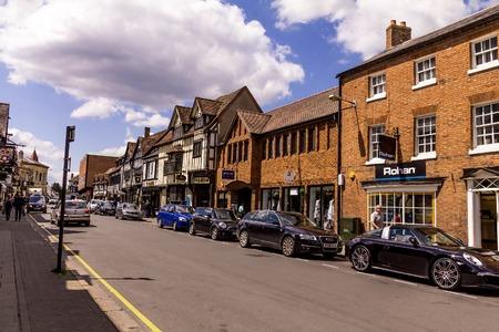 STRATFORD-UPON-AVON, UK - JUNE 8, 2015: Unidentified tourists at Shrieves walk in the center of Stratford Upon Avon, Warwickshire. England, United Kingdom, Western Europe