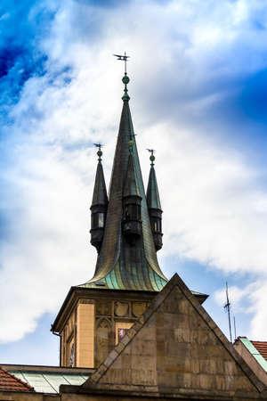 Prague, Czech Republic. St. Nicholas Church in the quarter of Mala Strana in Prague in Central Europe