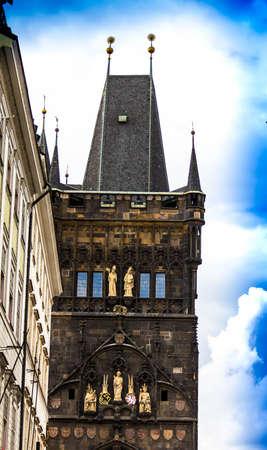 Prague, Czech Republic. Gun powder gate inside PowderTower incity center