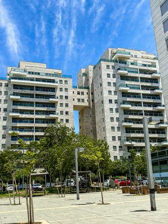 Modern apartment building in Tel Aviv. Israel