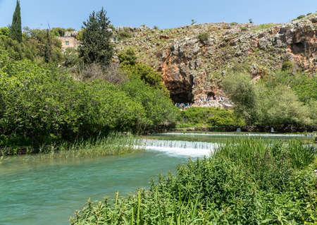 Baniyas ruins, ancient city in Israel at the foot of Mount Hermon, near main source of the Jordan river