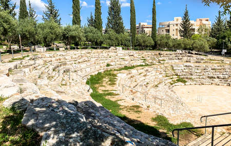 Amphitheater in Galil or Quarries park at Karmiel - on of the best in Israel 写真素材