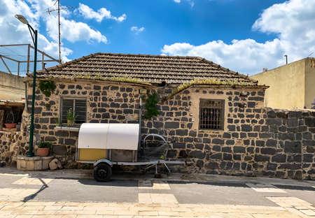 Kfar Kama, Israel- April 11, 2019: Typical old stone residential building in Kfar Kama - Circassian village in Israel Editorial