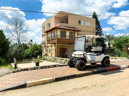 Kfar Kama, Israel- April 11, 2019: Typical modern residential building in Kfar Kama - Circassian village in Israel Editorial
