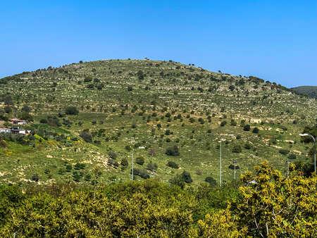 Lower Galilee panorama at spring time. 4K Standard-Bild