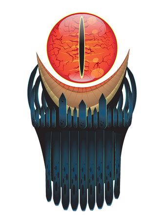 seigneur: Sauron vecteur yeux Illustration