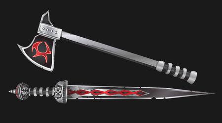 faction: Realistic Sword and Axe Vector