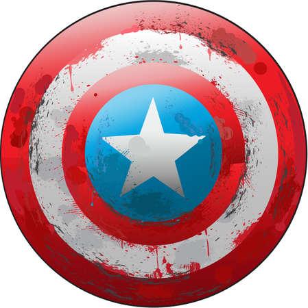 captain: Grunge Captain Shield Illustration