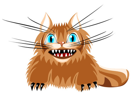 clutches: Illustration of angry cat