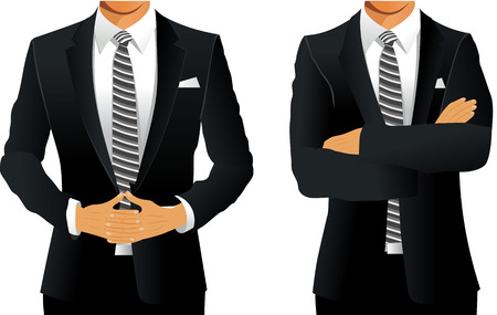 suit: A man in a business suit Illustration