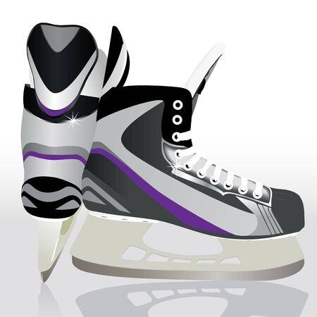 skates: Illustration of ice skates