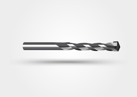drill bit: illustration of drill bit isolated on a white background