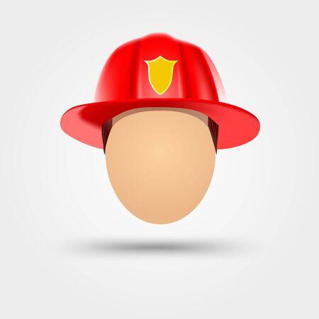 Illustration der Feuerwehrmann Helm auf weißem Hintergrund Vektorgrafik