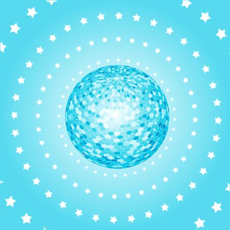 discoball: disco party background. ball, nightclub and nightlife, vector illustration