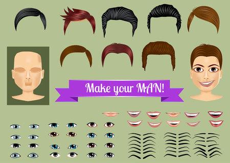 ingesteld op unieke personages te creëren - gezicht, haar, ogen, lippen, wenkbrauwen