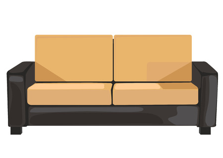 to furnish: sofa in vector format isolated over white background Illustration