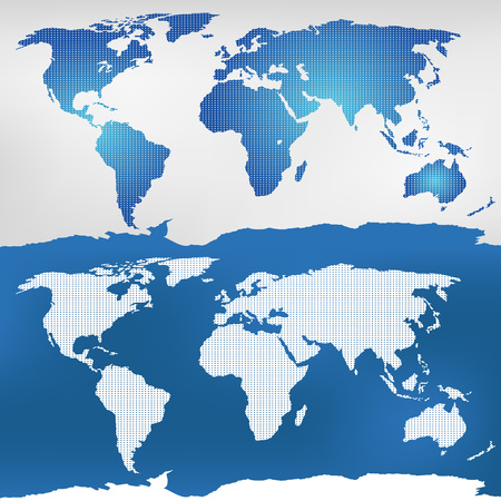 Illustration of the world map. Mercator projection
