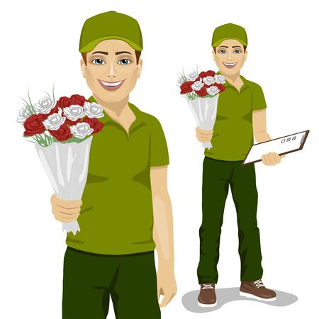Flower Delivery Stock Vector Illustration And Royalty Free Flower Delivery  Clipart