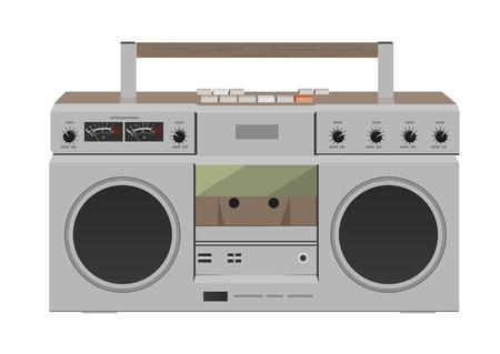 Stereo radio cassette recorder. Flat desing