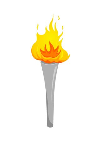 Silver Torch. Silver cup of fire. Torch icon. Big games. Torch logo. Achievement dream