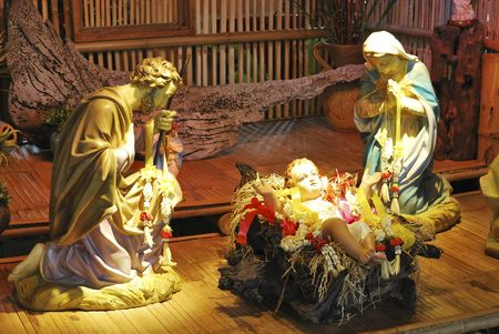 Birth of Jesus in the Church of Thailand Stock Photo - 6776242
