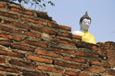 Buddha in Burned Temple photo
