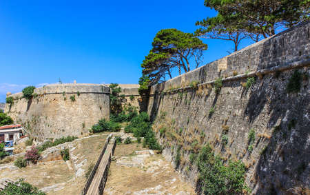 Fortezza - walls of ancient fortress in Rethymno Stock Photo