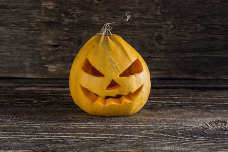 head for: Scary Pumpkin head for Halloween Stock Photo