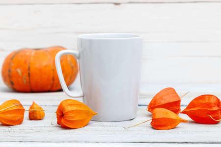 Mug mockup - a template for Halloween design Reklamní fotografie