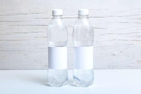 Bottle Label Mockup, Drink Label, Wedding Favor Tag Mockup, Blank Label Stock Photo