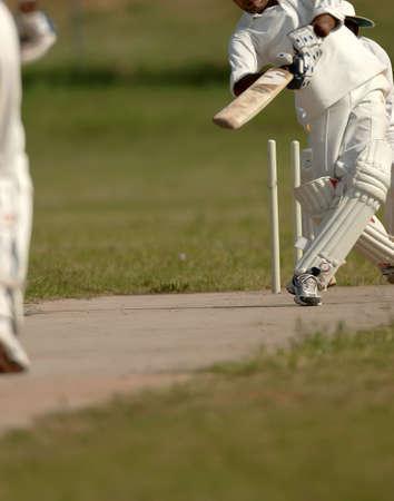 English Cricket Match Stock Photo